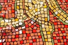 Färgrika mosaiktegelplattor textur och bakgrund royaltyfri bild