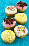 färgrika muffiner Royaltyfri Bild