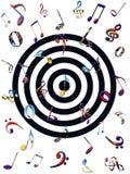 färgrika musikaliska anmärkningar Royaltyfri Fotografi