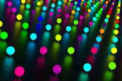 Färgrika neonlampor Arkivfoto
