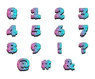 F?rgrika nummer f?r v?t m?larf?rg Vektortecknad filmupps?ttning stock illustrationer