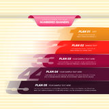 Färgrika numrerade baner Arkivfoto