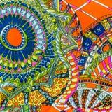 Färgrika och fantasirika målningar. För konsttextur eller rengöringsdukdesign Arkivbild