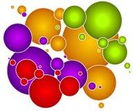 färgrika orbs för bubblacirklar Royaltyfri Fotografi