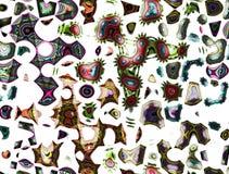 färgrika organiska former Royaltyfri Foto