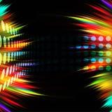 färgrika orienteringsswirls Arkivbild