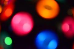 Färgrika oskarpa lampor Arkivbild