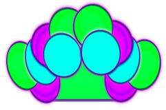 Färgrika Ovals Royaltyfria Bilder