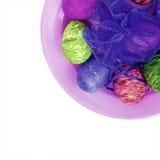Färgrika påskägg Arkivbild