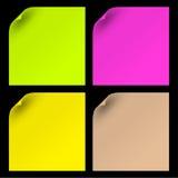 färgrika paper ark Arkivfoton