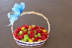 Färgrika paper blommor Arkivbild