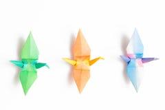 Färgrika paper fåglar Royaltyfria Foton