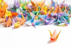 Färgrika paper fåglar Royaltyfri Foto