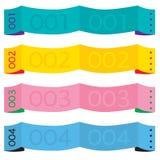 Färgrika pappers- baner. Fotografering för Bildbyråer