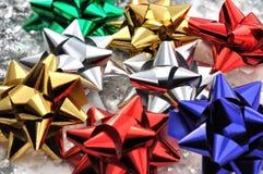 Färgrika pappers- stjärnor Royaltyfri Fotografi