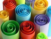 färgrika pappersrullar royaltyfria bilder