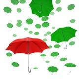 Färgrika paraplyer för flyga Royaltyfri Foto