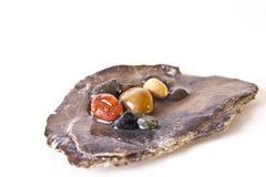 färgrika pebbles Royaltyfri Bild