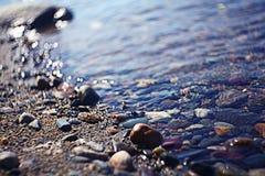 färgrika pebbles Fotografering för Bildbyråer