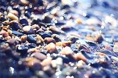 färgrika pebbles Arkivbild