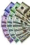 färgrika pengar Arkivbild
