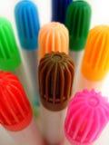 färgrika pennor Arkivbild