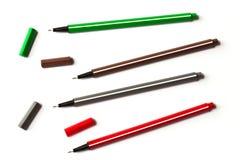färgrika pennor Royaltyfri Fotografi