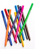 färgrika pennor Arkivfoton
