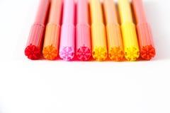 färgrika pennor Fotografering för Bildbyråer