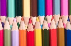 färgrika pensils Fotografering för Bildbyråer