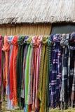 Färgrika peruanska halsdukar Arkivbild