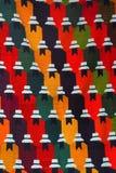 Färgrika peruanska textiler Royaltyfri Fotografi
