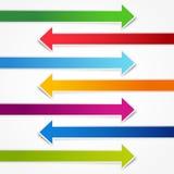 färgrika pilar Fotografering för Bildbyråer