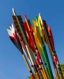 Färgrika pilar Royaltyfri Fotografi