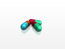 färgrika pills Royaltyfri Fotografi