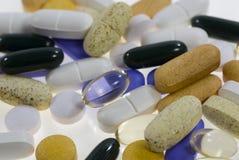 färgrika pills Royaltyfria Bilder