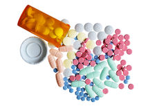 Färgrika Pills Arkivfoton