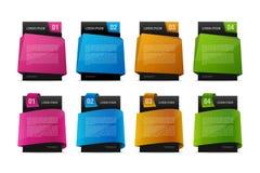 Färgrika Placeholders för text 3D ställde in för dina designer Royaltyfria Bilder