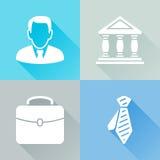 Färgrika plana symboler för affärsman Royaltyfria Foton