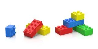 Färgrika plast-block Royaltyfri Bild