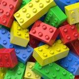 Färgrika plast-block Arkivfoton