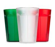 Färgrika plast- dryckkoppar Royaltyfria Foton