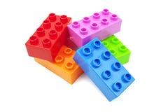 Färgrika plast- kvarter för leksak Fotografering för Bildbyråer