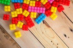 Färgrika plast- leksakkvarter jpg Royaltyfri Fotografi