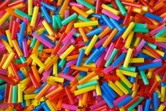 färgrika plastic rör Fotografering för Bildbyråer