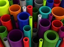 Färgrika Plastic rør royaltyfri illustrationer