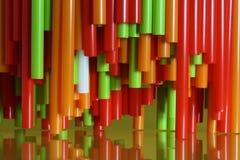 färgrika plastic sugrör för abstrakt bacground Royaltyfria Foton