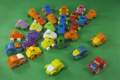 färgrika plastic toys Arkivfoto