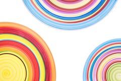 färgrika plattor cirklar färgrikt färgade bakgrundscirklar Royaltyfri Bild