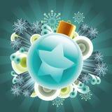 färgrika prydnadar för jul Royaltyfri Foto